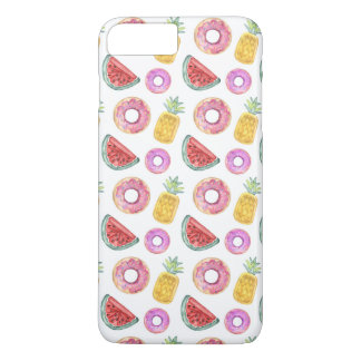 Pastel Watercolor Pool Float Pattern iPhone 8 Plus/7 Plus Case