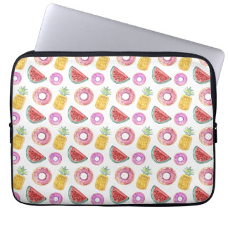 Pastel Watercolor Pool Float Pattern Laptop Sleeve