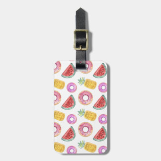 Pastel Watercolor Pool Float Pattern Luggage Tag