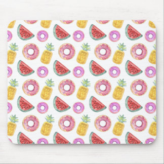 Pastel Watercolor Pool Float Pattern Mouse Mat