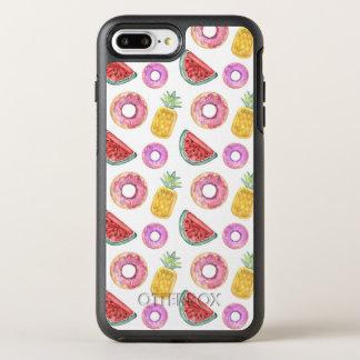 Pastel Watercolor Pool Float Pattern OtterBox Symmetry iPhone 8 Plus/7 Plus Case