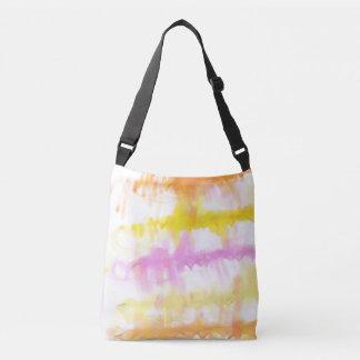 Pastel Watercolor Splash Abstract Crossbody Bag