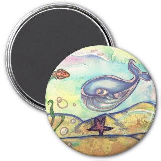 Pastel Watercolor Whale Magnet
