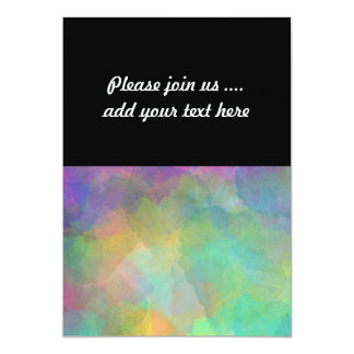 Pastel Watercolors Abstract Art 13 Cm X 18 Cm Invitation Card