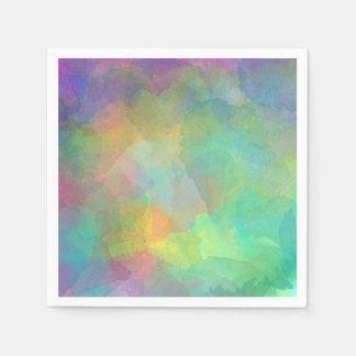 Pastel Watercolors Abstract Art Disposable Serviettes