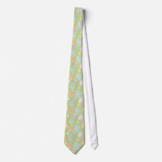 Pastel Watercolour Painted Easter Egg Pattern Tie