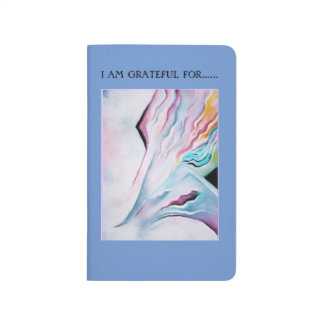 PASTEL WAVES ABSTRACT ART GRATITUDE JOURNAL