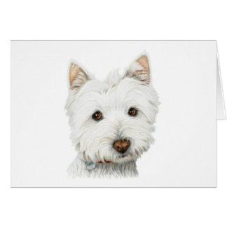 Pastel Westie Dog Card