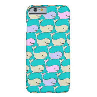 Pastel Whales case Barely There iPhone 6 Case