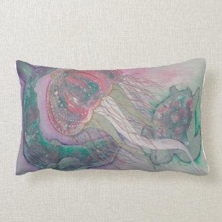 Pastel whales lumbar pillow