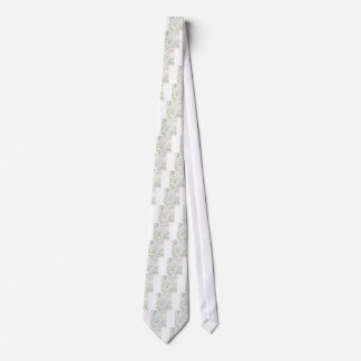 Pastel White Cave Drawing (abstract raw art) Tie