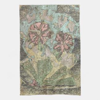 Pastel Wild Flowers Tea Towel