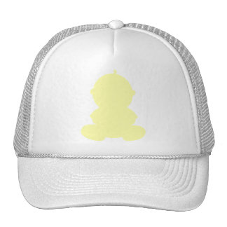 PASTEL YELLOW BABY GRAPHIC SILHOUETTE PREGNANCY EX TRUCKER HAT