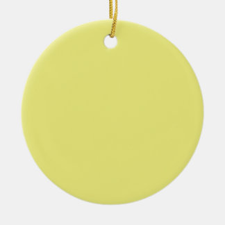 Pastel Yellow Background on an Ornament