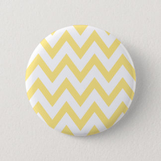 Pastel Yellow Chevron 6 Cm Round Badge