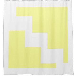 Pastel Yellow Chevron Shower Curtain