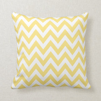 Pastel Yellow Chevron Zigzag Pattern Cushion