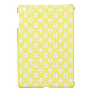 Pastel Yellow Crosses iPad Mini Covers