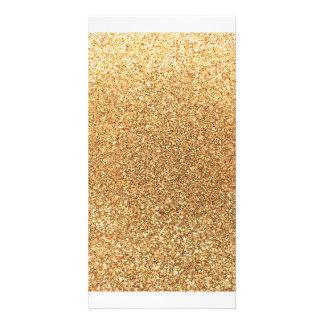 Pastel yellow glitter photo card template