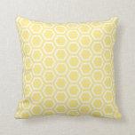 Pastel Yellow Honeycomb Pattern Cushion