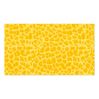 Pastel yellow leopard print pattern business card templates
