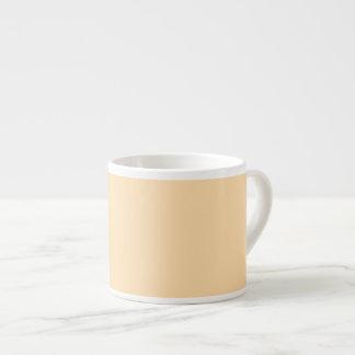 Pastel Yellow Orange Espresso Mug