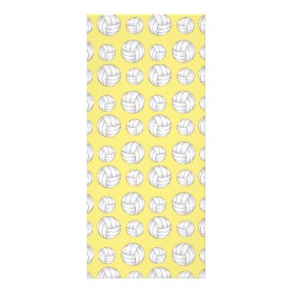 Pastel Yellow volleyball pattern Rack Cards