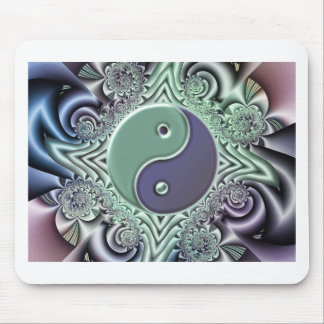 Pastel Yin Yang Mouse Pad