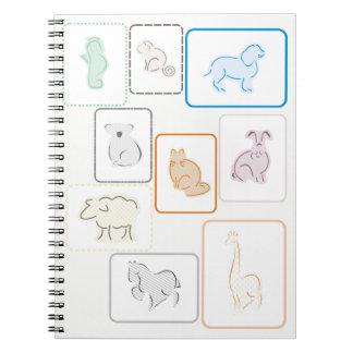 Pastel Zoo Spiral Notebook
