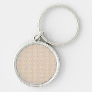 pastele colors dab score polka dots dotted Silver-Colored round key ring
