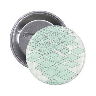 Pastell Diamond graph PAPER SIRAdesign 6 Cm Round Badge