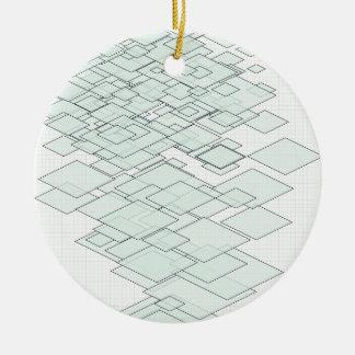 Pastell Diamond graph PAPER SIRAdesign Round Ceramic Decoration