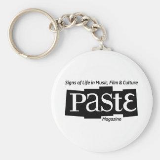 Pastelogobwclr_magandtag (B&W) Basic Round Button Key Ring