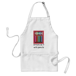 Pastels and pencils standard apron