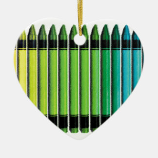 Pastels Ceramic Heart Decoration