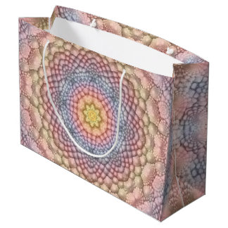 Pastels Colorful Vintage Kaleidoscope   Gift Bags