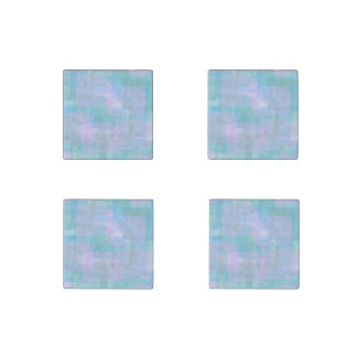 Pastels Geometric LInes Marble Stone Magnets Stone Magnet