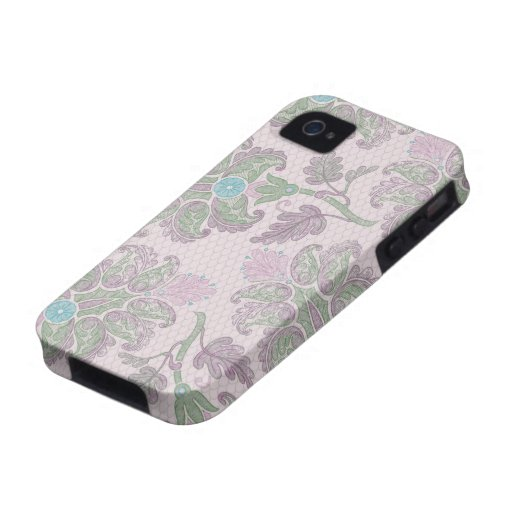 pastels spring floral damask iPhone 4 cases