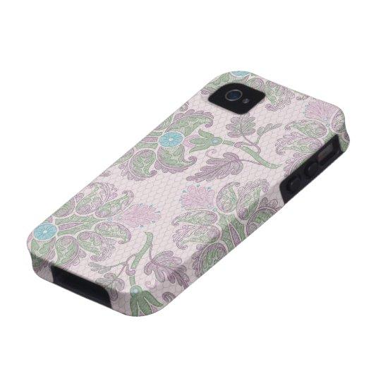 pastels spring floral damask iPhone 4 cases