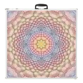 "Pastels Vintage Kaleidoscope   96"" Pong Table"