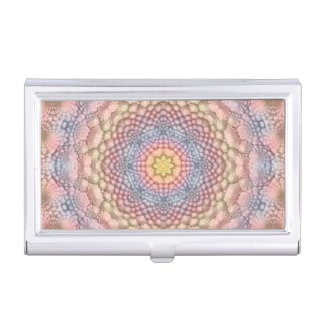 Pastels Vintage Kaleidoscope Business Card Case