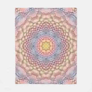 Pastels Vintage Kaleidoscope Fleece Blankets