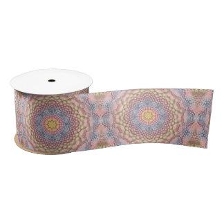 Pastels Vintage Kaleidoscope  Kaleidoscope Satin Ribbon