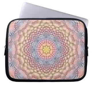 Pastels Vintage Kaleidoscope Laptop Sleeves