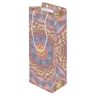 Pastels Vintage Kaleidoscope   Wine Bags
