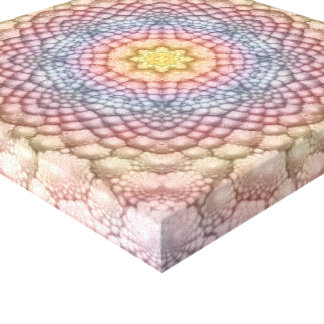 Pastels Vintage Kaleidoscope   Wrapped Canvas