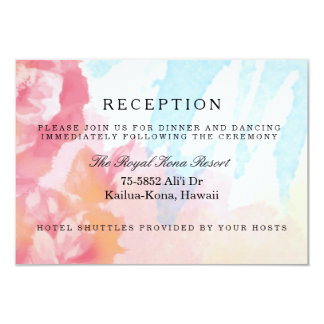 Pastels Watercolor Roses Reception Cards