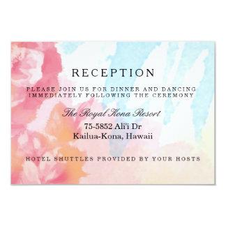 Pastels Watercolor Roses Reception Cards 9 Cm X 13 Cm Invitation Card