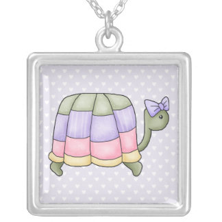 pastelturtle silver plated necklace