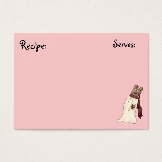 Pastery, Bakery Recipe Card